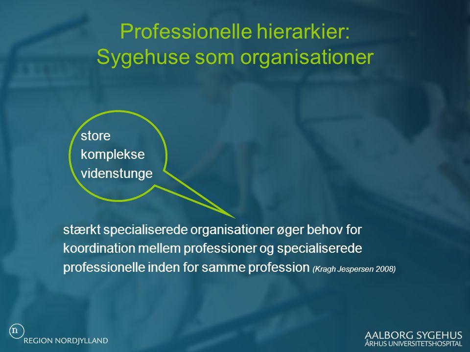 Professionelle hierarkier: Sygehuse som organisationer