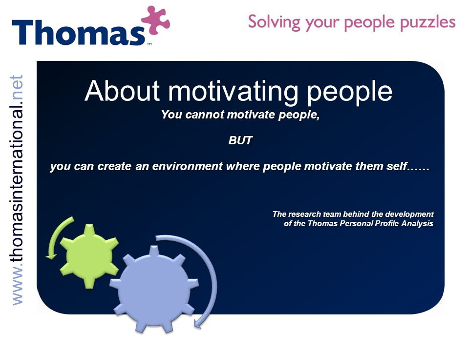 About motivating people