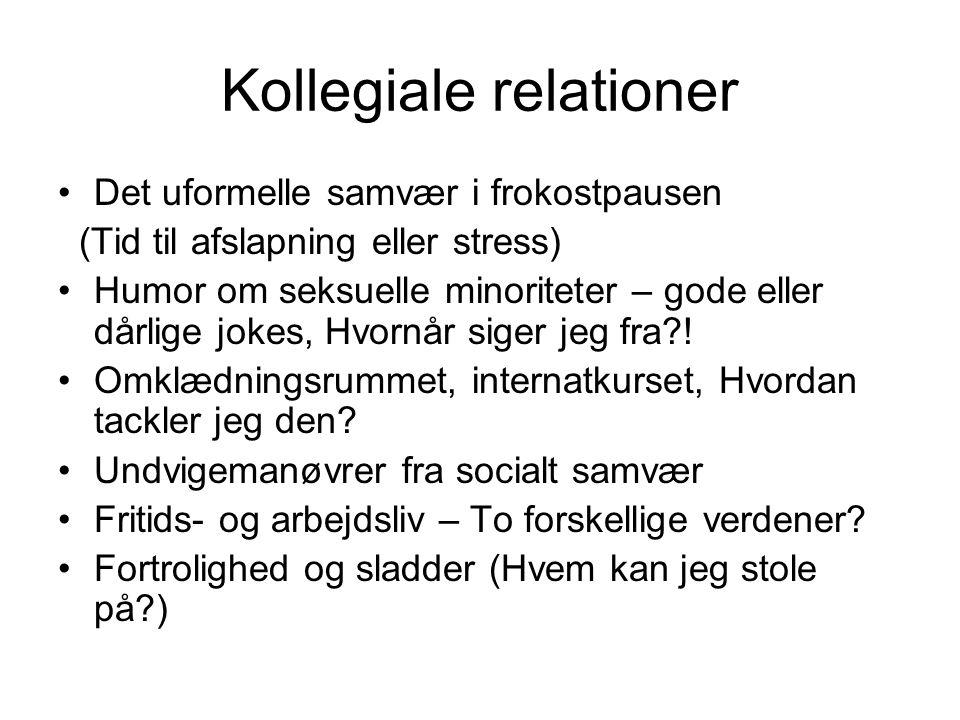 Kollegiale relationer