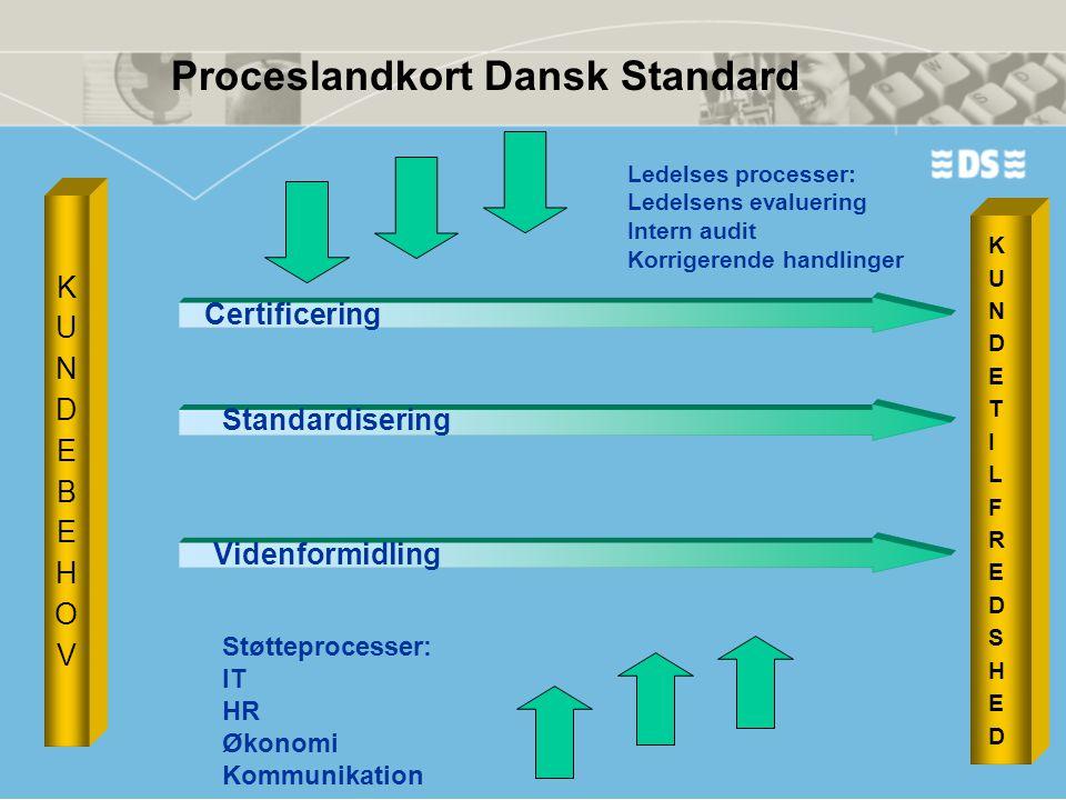 Proceslandkort Dansk Standard