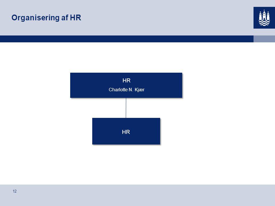 Organisering af HR HR Charlotte N. Kjær HR 12 12
