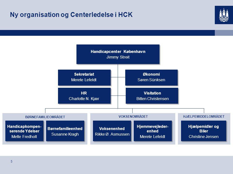 Ny organisation og Centerledelse i HCK