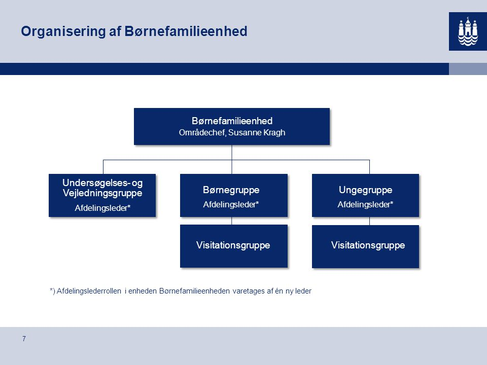 Organisering af Børnefamilieenhed