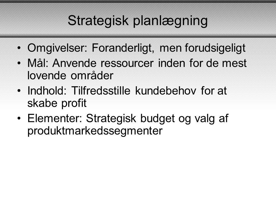 Strategisk planlægning