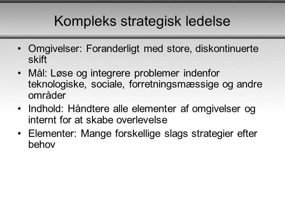 Kompleks strategisk ledelse