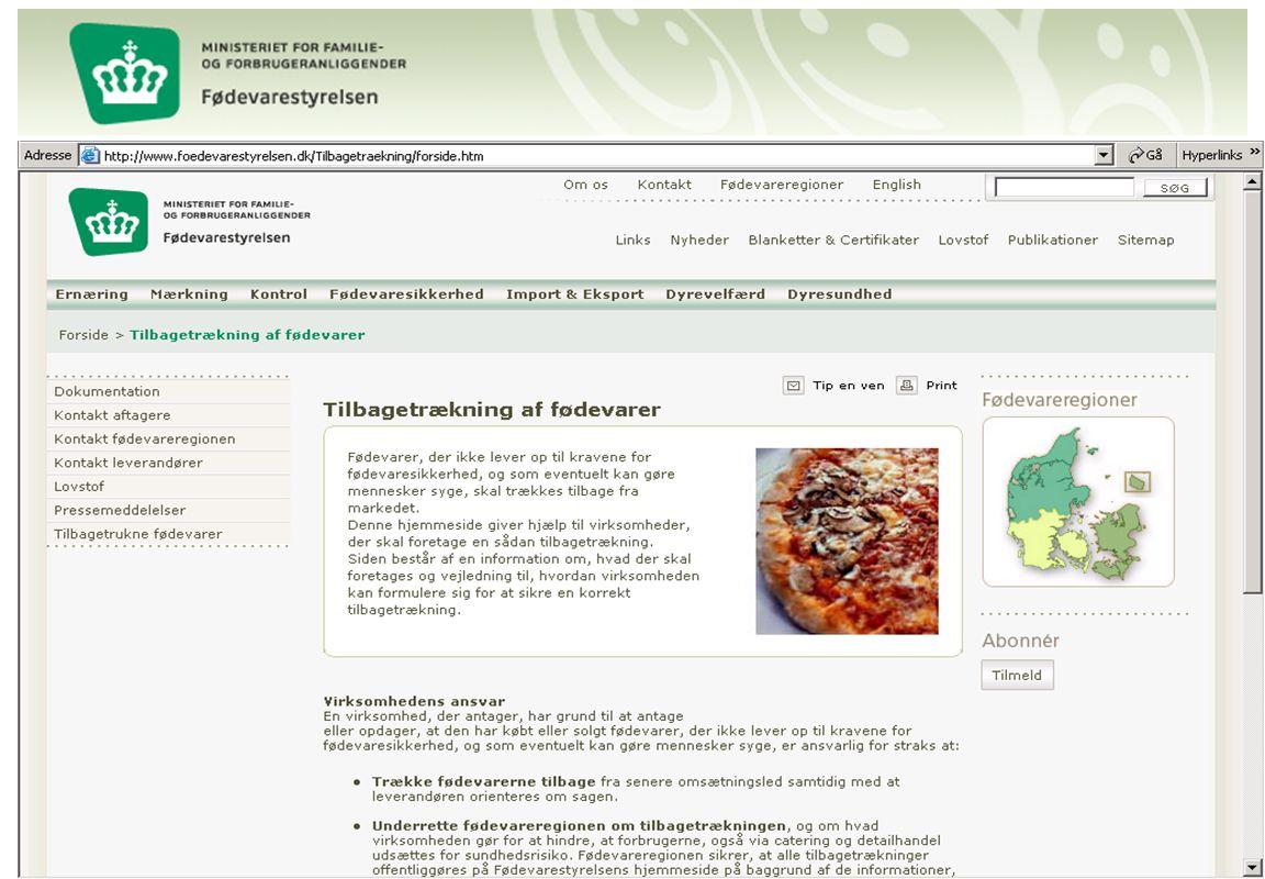FVST har lagt vejledning ud til virksomhederne om tilbagetrækning af fødevarer…..