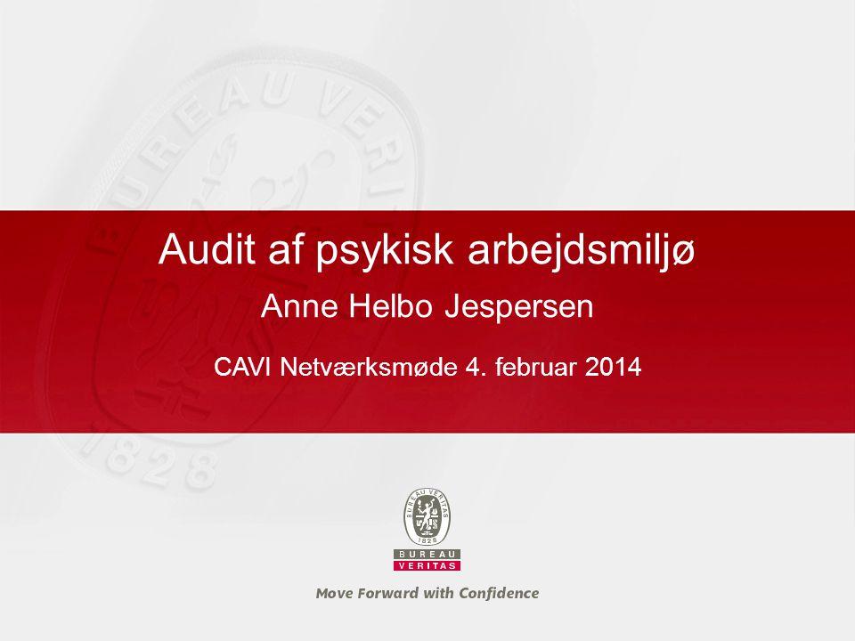 Audit af psykisk arbejdsmiljø