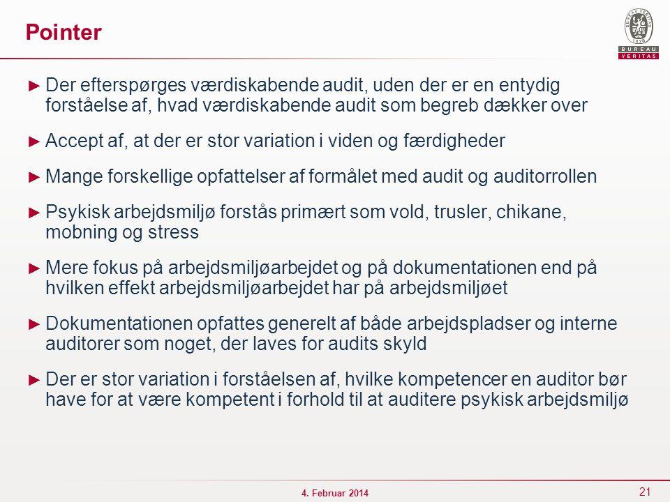 Pointer Der efterspørges værdiskabende audit, uden der er en entydig forståelse af, hvad værdiskabende audit som begreb dækker over.