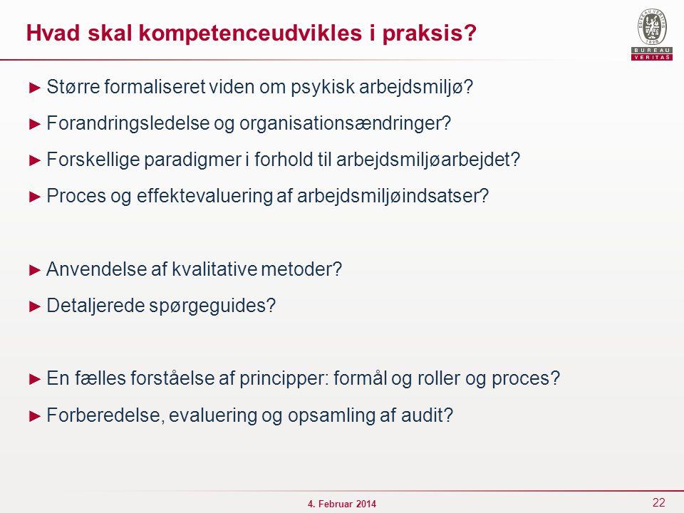 Hvad skal kompetenceudvikles i praksis