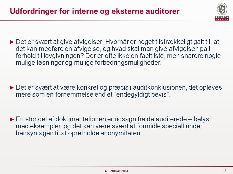Udfordringer for interne og eksterne auditorer