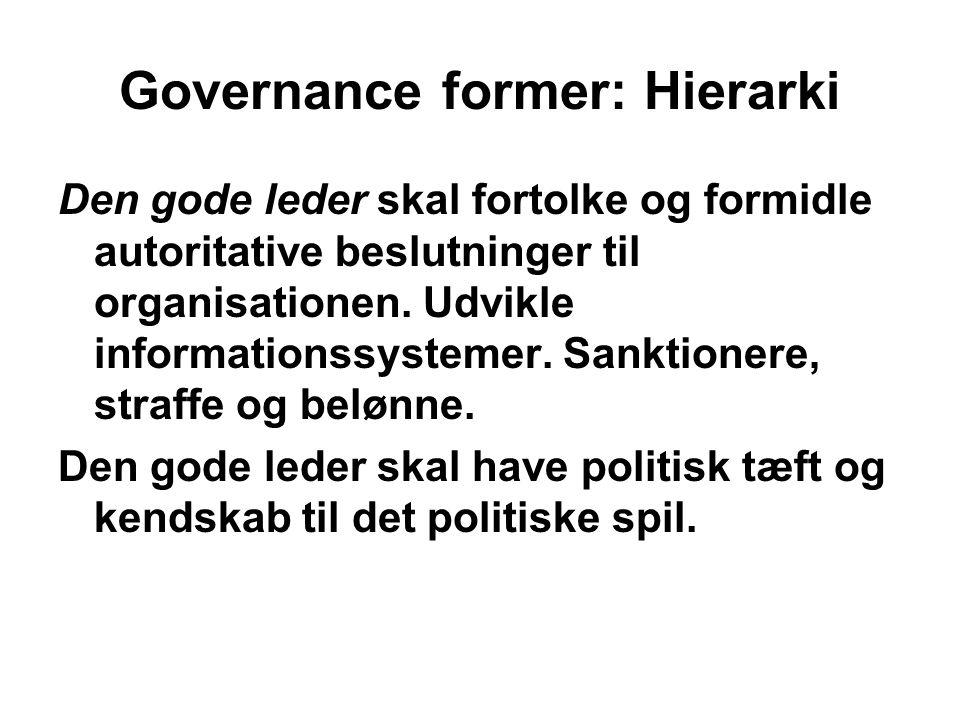 Governance former: Hierarki