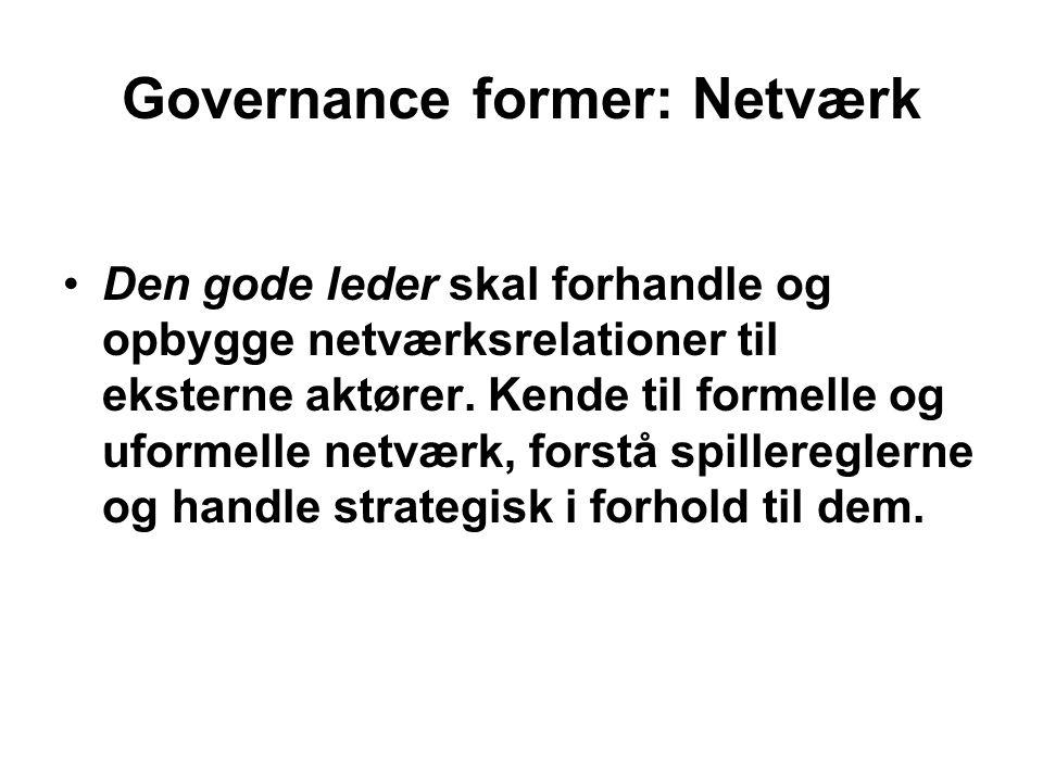 Governance former: Netværk