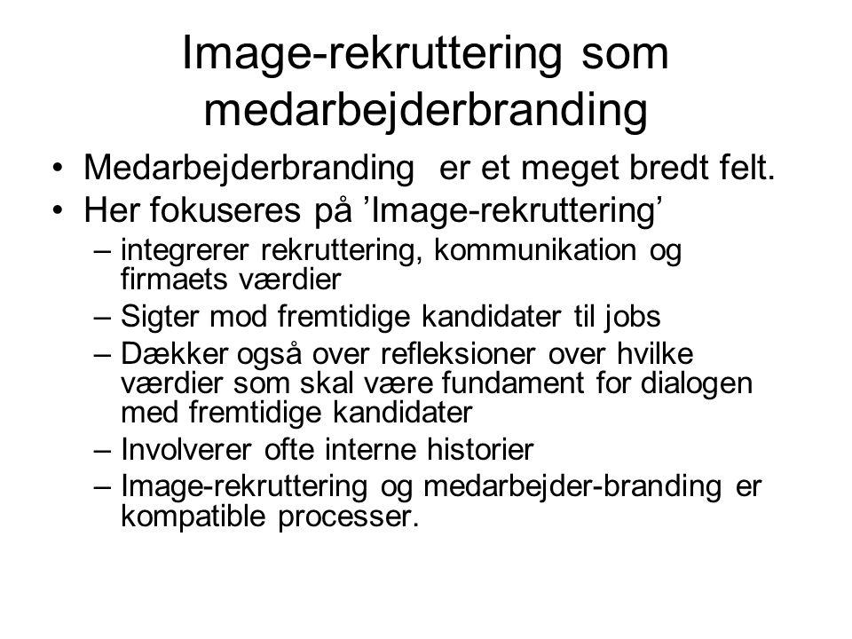 Image-rekruttering som medarbejderbranding