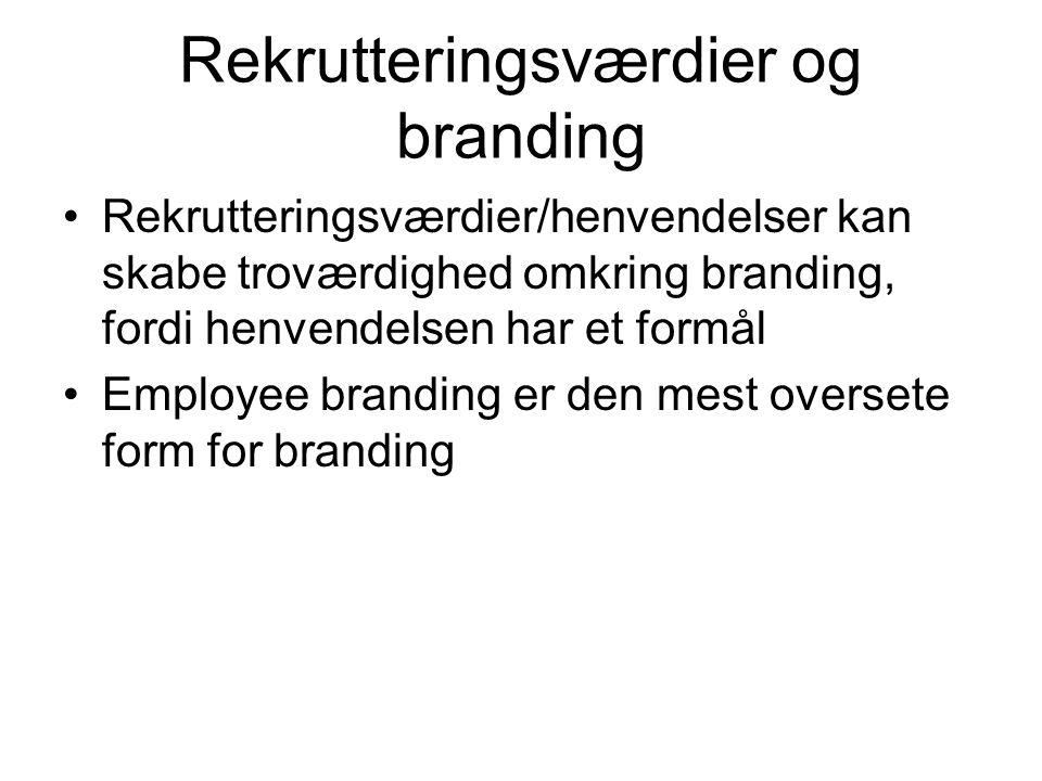 Rekrutteringsværdier og branding