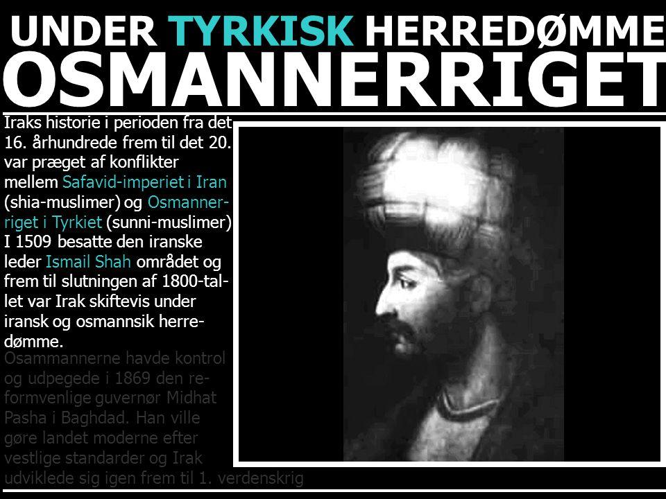 OSMANNERRIGET UNDER TYRKISK HERREDØMME