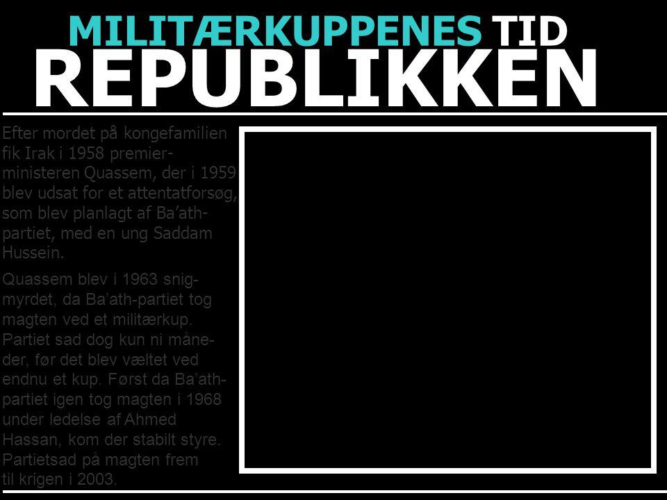 REPUBLIKKEN MILITÆRKUPPENES TID Efter mordet på kongefamilien