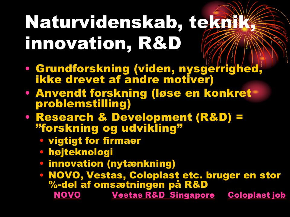 Naturvidenskab, teknik, innovation, R&D
