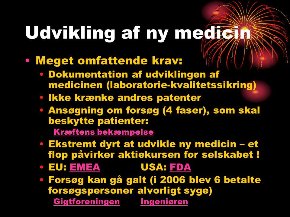 Udvikling af ny medicin