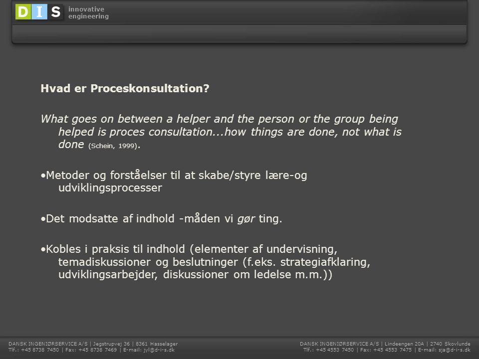 Hvad er Proceskonsultation