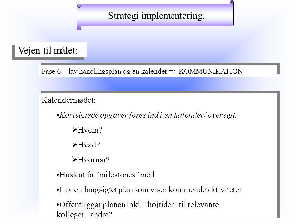 implementering av strategi
