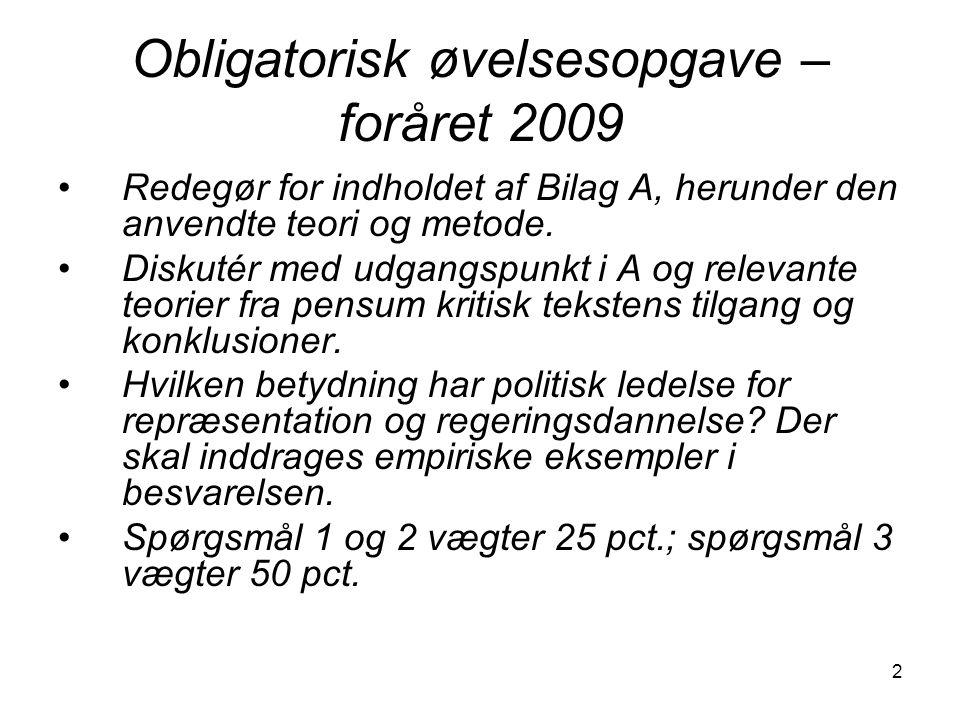 Obligatorisk øvelsesopgave – foråret 2009