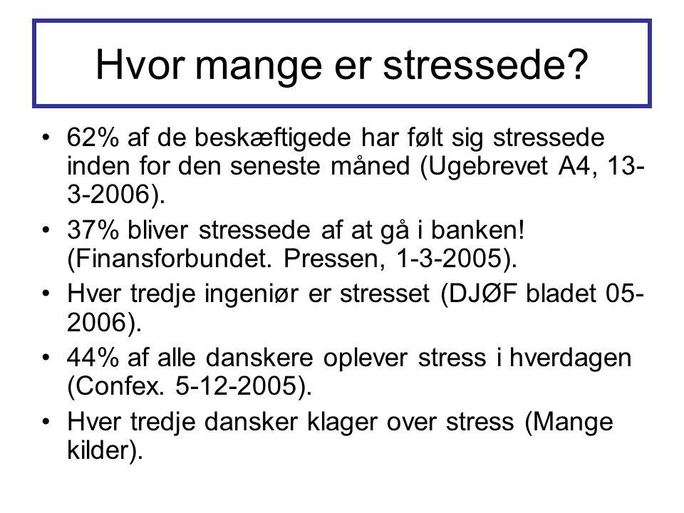 Hvor mange er stressede