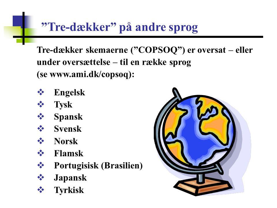Tre-dækker på andre sprog
