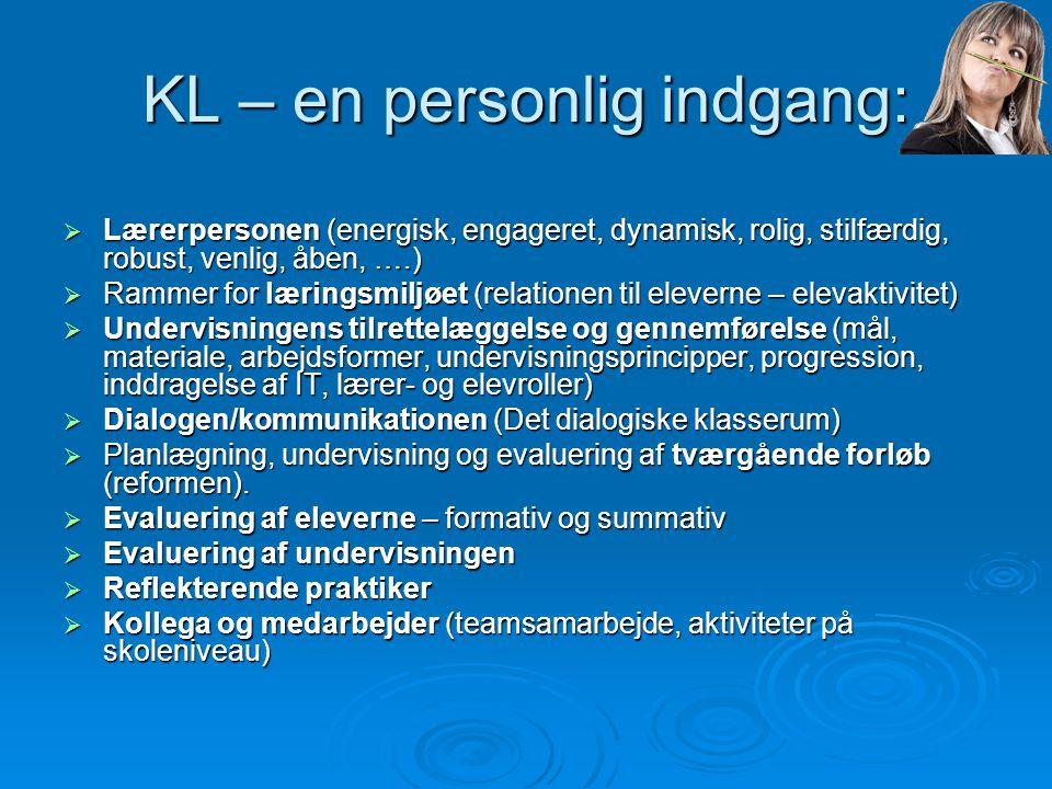 KL – en personlig indgang: