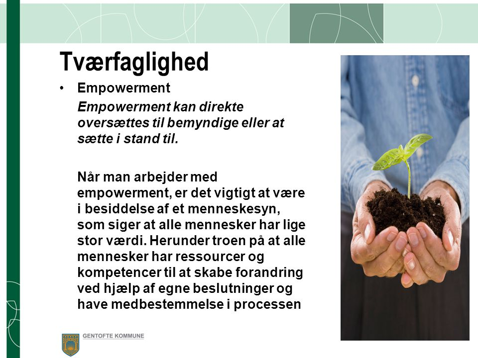 Tværfaglighed Empowerment