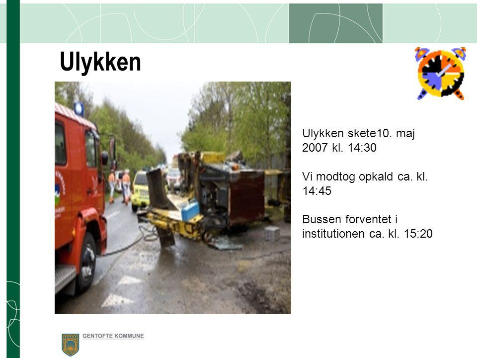Ulykken Ulykken skete10. maj 2007 kl. 14:30