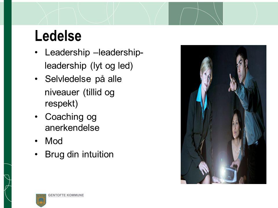 Ledelse Leadership –leadership- leadership (lyt og led)