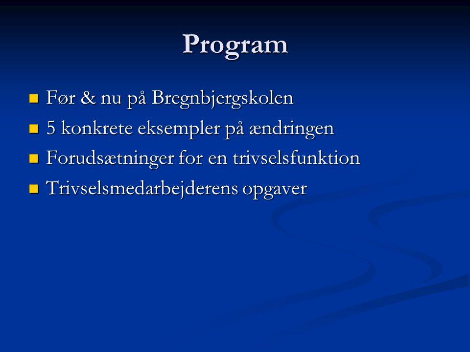Program Før & nu på Bregnbjergskolen 5 konkrete eksempler på ændringen