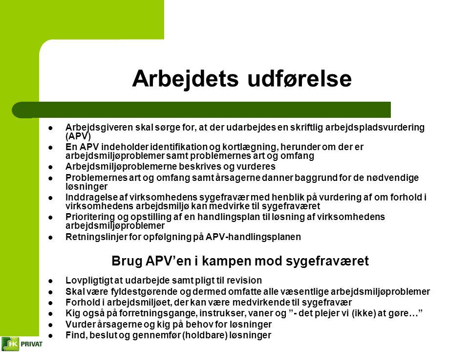 Brug APV'en i kampen mod sygefraværet