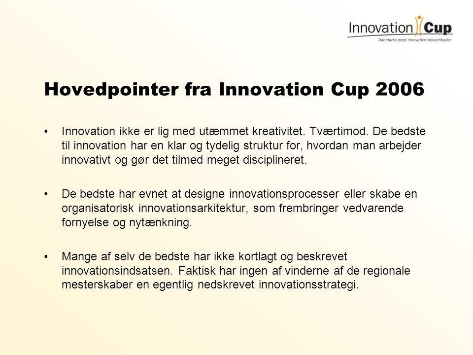 Hovedpointer fra Innovation Cup 2006