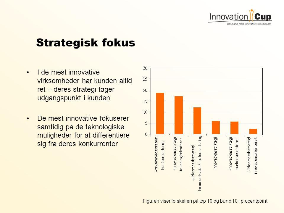 Strategisk fokus I de mest innovative virksomheder har kunden altid ret – deres strategi tager udgangspunkt i kunden.