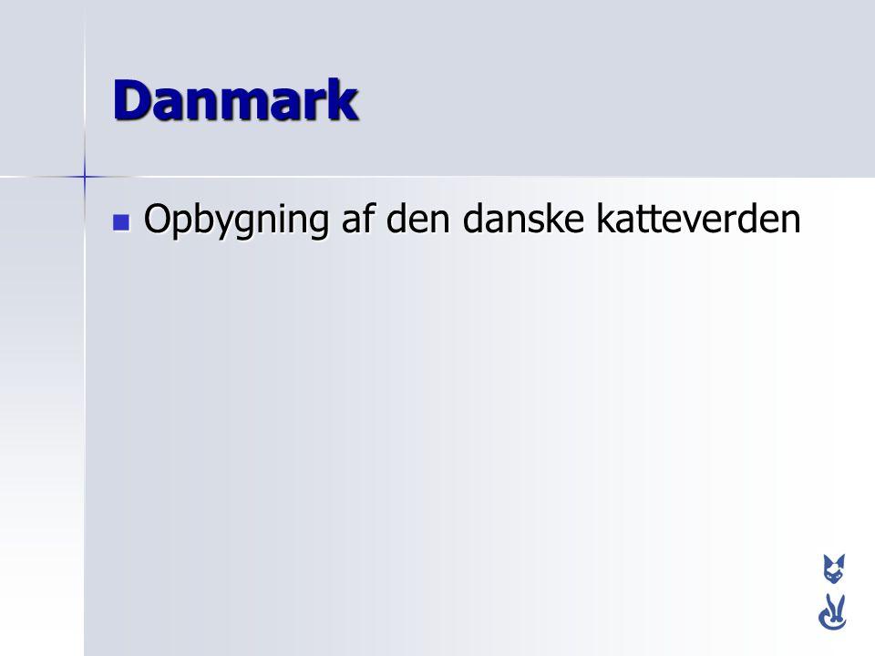Danmark Opbygning af den danske katteverden