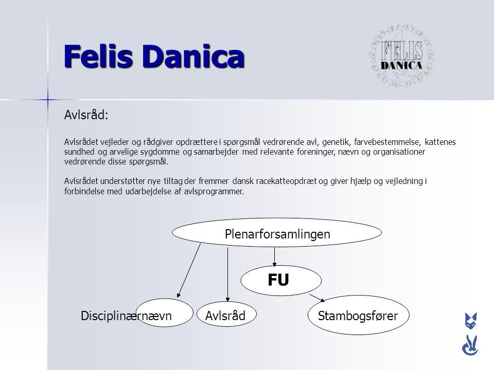 Felis Danica FU Avlsråd: Plenarforsamlingen Disciplinærnævn Avlsråd
