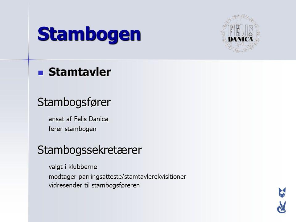 Stambogen Stamtavler Stambogsfører ansat af Felis Danica