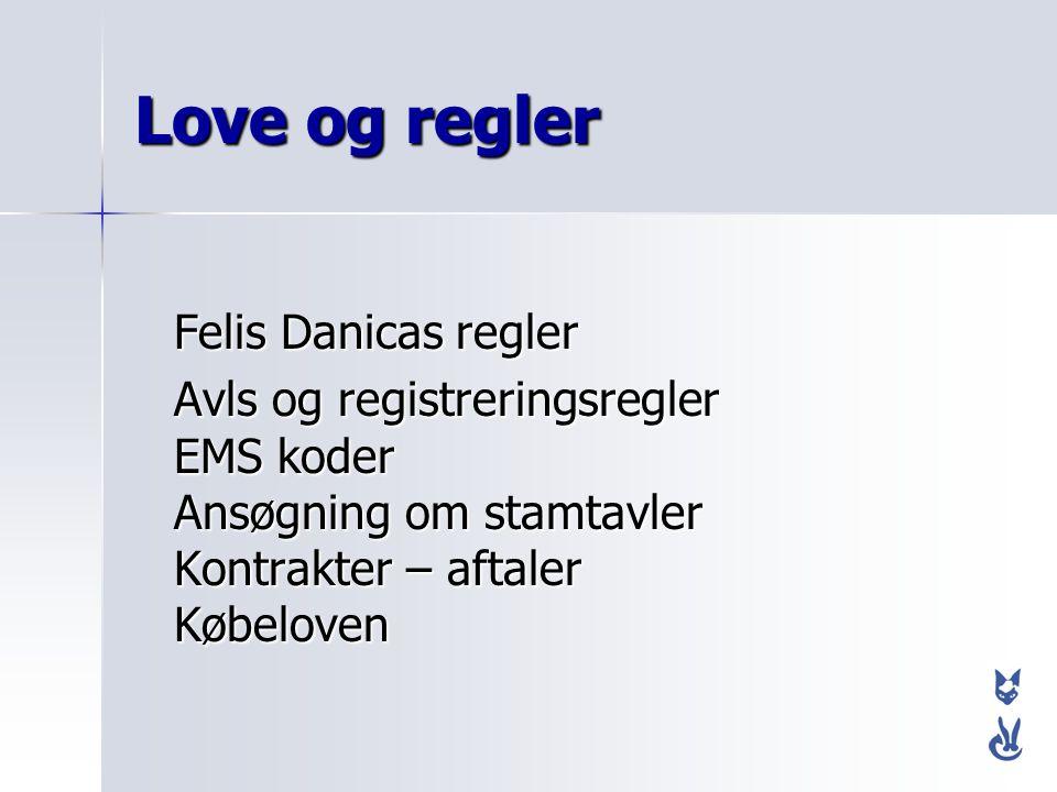 Love og regler Felis Danicas regler
