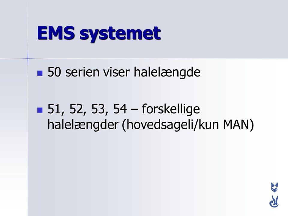 EMS systemet 50 serien viser halelængde