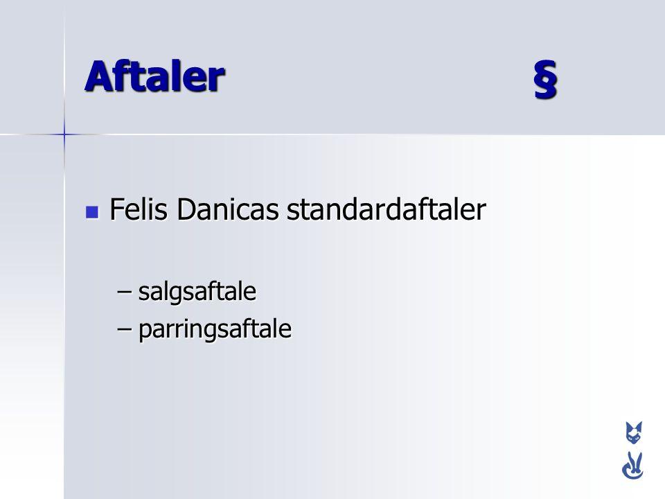 Aftaler § Felis Danicas standardaftaler salgsaftale parringsaftale