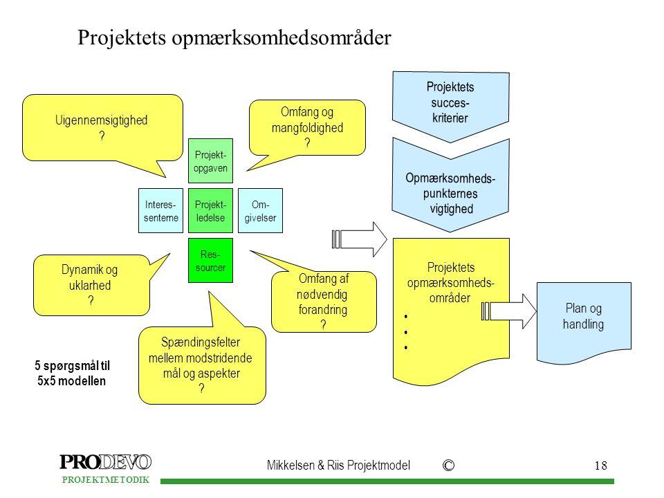 Projektets opmærksomhedsområder