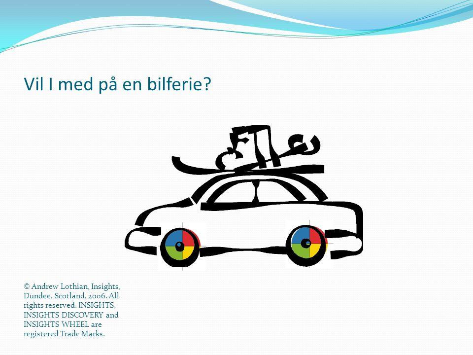 Vil I med på en bilferie Den blå energi: Alt er planlagt og vi afviger ikke fra planen!