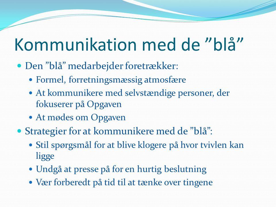 Kommunikation med de blå