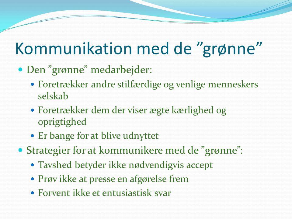 Kommunikation med de grønne