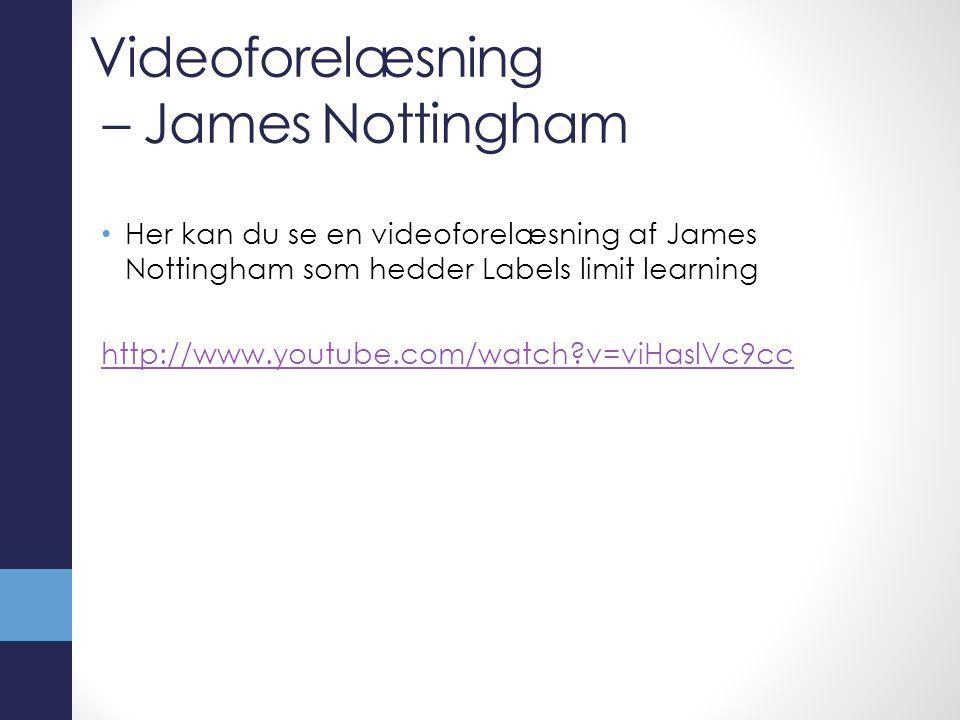 Videoforelæsning – James Nottingham