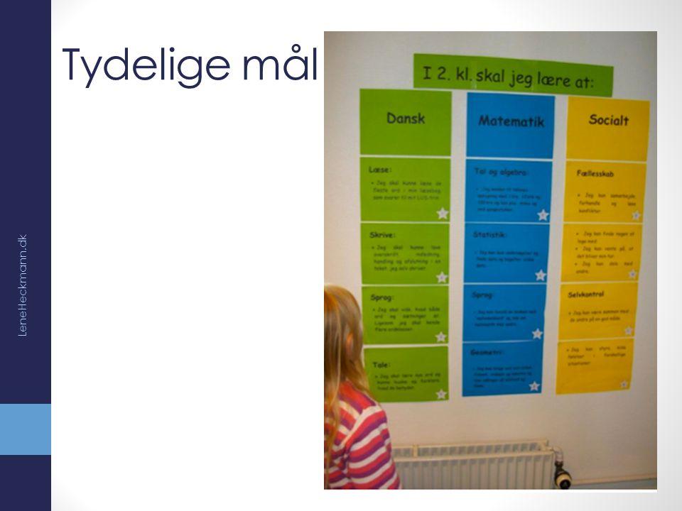 Tydelige mål LeneHeckmann.dk