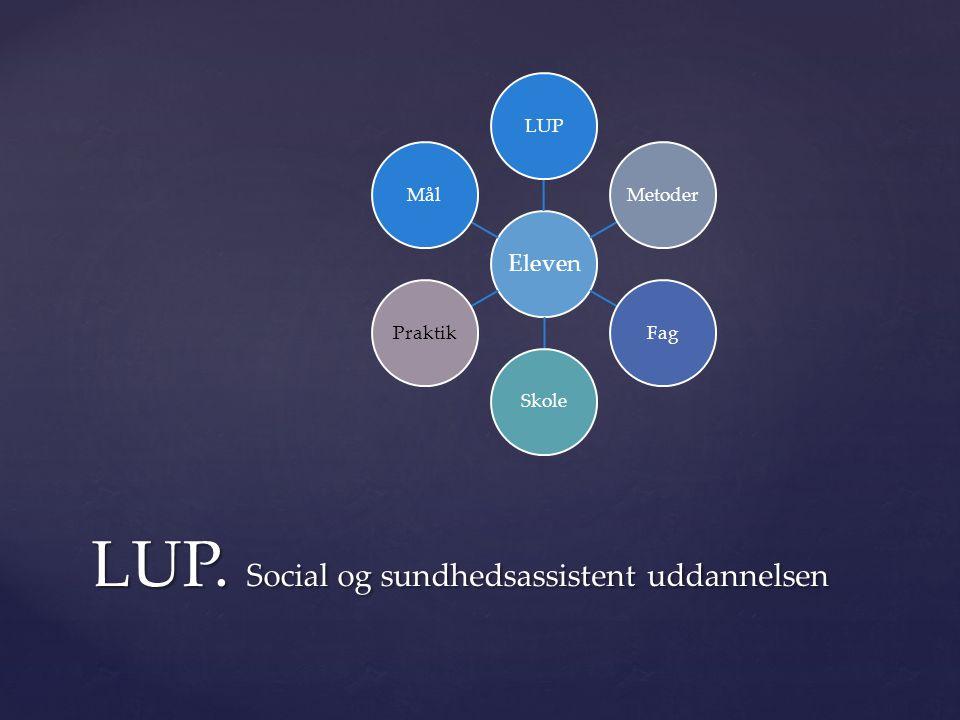 LUP. Social og sundhedsassistent uddannelsen