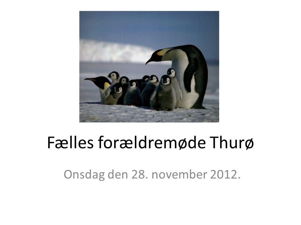 Fælles forældremøde Thurø