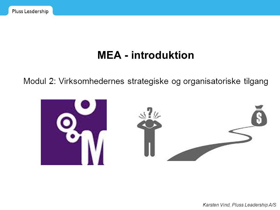 Modul 2: Virksomhedernes strategiske og organisatoriske tilgang